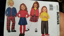 BUTTERICK GIRLS 6845 JACKET SKIRT TOP AND PANTS SIZES6-7-8 NEW AND UNCUT