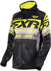 FXR Race Division Tech Hoodie - Black / Hi Vis -  2XL XXL - NEW