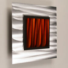 Modern Contemporary Abstract Metal Wall Sculpture Art Painting Minimalism Copper