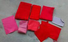Lot of 9 Red Felt Fabric