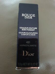 D I O R Nude Lipstick Rouge Comfort & Wear 481 Hypnotic Matte