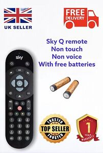GENUINE QUALITY SKY Q REPLACEMENT REMOTE SKY TV INFRARED CONTROL FREE BATTERY