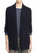 $395 VINCE Directional Ribbed Wool Cashmere Cardigan Coastal blue SMALL 9751