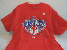 Philadelphia Phillies 2008 World Series Champions shirt sz.XL NEW Majestic
