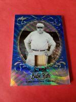 BABE RUTH GAME USED BAT CARD #d3/5 LEAF METAL REFRACTOR #SB33 NEW YORK YANKEES