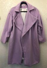 Acesnug Coat 3XL Purple Lined Long Jacket Plus