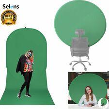 Selens Portable Green Screen Webcam Round Background Green Chromakey w/ Big Shot
