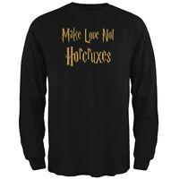 Make Love Not Horcruxes Black Adult Long Sleeve T-Shirt