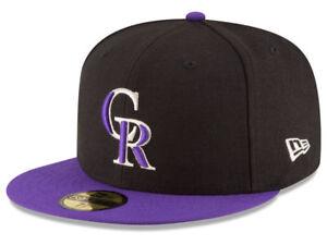 New Era Colorado Rockies ALT 59Fifty Fitted Hat (Black/Purple) MLB Cap