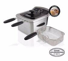 Farberware Deep Fryer 4L Liter Dual, Stainless Steel, 3 Frying Baskets | NEW