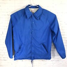 Warwick USA Blue Windbreaker Rain Jacket Vintage Men M Medium 38-40 Vtg