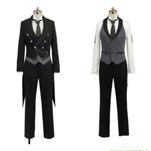 Black Butler 2 Kuroshitsuji Sebastian Michaelis Clothing Uniform Cosplay Costume