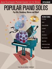 "JOHN THOMPSON'S ""POPULAR PIANO SOLOS"" GRADE-5-FIVE MUSIC BOOK/CD-NEW ON SALE!!"
