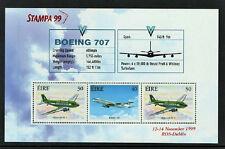 1999 IRELAND DX198b STAMPA MEMBERS AIRCRAFT DOUGLAS DC 3 BOEING 707  MS SCARCE