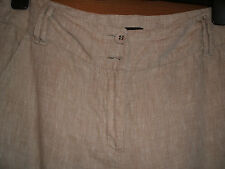 """PRINCIPLES 12R COTTON/ LINEN TROUSERS IN LEG 31"""" HOLIDAY STAPLE TAUPE"""