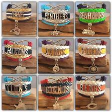 NFL Football Team Sports Fan Shop Infinity Bracelet