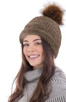 Women Stripe Knit Oversize Baggy Slouchy Beanie Warm Winter Hat Ski Chic Cap