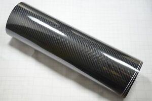 300mm x 1520mm 8DM Carbon Fibre Vinyl Wrap (Air/Bubble Free) Black Gloss
