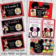 'You PRINT & SAVE' Photo MICKEY MOUSE MINNIE MOUSE Birthday Invitations Digital