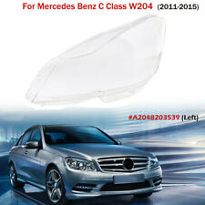 Left Side Clear Headlight Cover Lens Fit for Mercedes Benz C Class W204 11-15