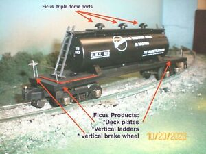 """American Flyer & Ficus Products  custom  """"Barrette roofing """"  tank car"""