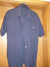 Da. Bluse elegant sportlich Gr. 42 marine blau halbarm neuwertig