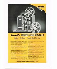 1954 Kodak Kodascope Royal 16mm Movie Projector Vtg Print Ad