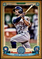 Jose Altuve 2019 Topps Gypsy Queen 5x7 Gold #166 /10 Astros