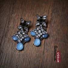 STOCK CLEARANCE Costume Earrings Studs Baroque Blue Black Vintage BB 9