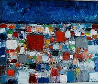 ALEXANDRE PONS/Abstrait contemporain  pièce unique format 46X55 cm