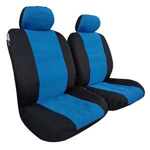 Blue Neoprene 2pcs Universal Size Car Seat Covers For Mitsubishi Triton Dual Cab