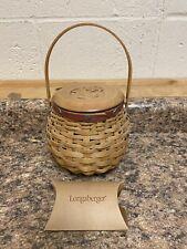 Longaberger 2004 Let Me Call You Sweetheart Rose Bowl Basket Complete Set & Lid