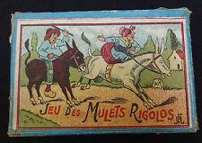 ancien jeu de patience adresse casse tête / jeu des mulets rigolos
