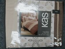KAS Australia NAPLES  BROWNS TWIN SIZE Duvet Cover BEAUTIFUL NEW BRAND NEW !!!