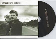 THE FINN BROTHERS - Won't give in PROMO CD SINGLE 1TR EU CARDSLEEVE 2004