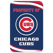 Chicago Cubs ~ Property of Wall Display Helmet 7.25 x 12 Sign Decoration