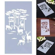 Baking Tool Side Decor Mould Damask Deer Tree Border Fondant Cake Stencil Mold