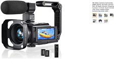 4K Video Camera Camcorder, 48MP 60FPS YouTube Camera WiFi IR Night Version Vlogg