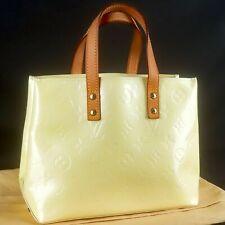 LOUIS VUITTON READE PM Hand Bag Purse Monogram Vernis Leather M91336 Perle