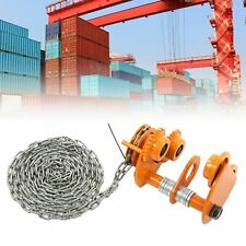 More details for manual trolley heavy duty push beam roller tools 3m chain mechanical equipmet