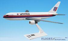 United (76-93) 767-200 Airplane Miniature Model Plastic Snap-Fit 1:200
