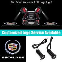 2x Old Cadillac Escalade Logo Car Door LED Light Projector for Escalade ESV EXT