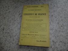 1914.Pages d'Histoire 23.Séance historique Institut de france.guerre 14-18..
