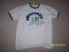 abercrombie Boys White Size XL 100% Cotton Shirt