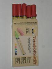 assortiment de 5 crayons/feutres pour terre cuite à base d'eau (pointe:6mm)