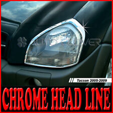 Chrome Head Light Lamp Molding Garnish Trim 2p For 05 06 07 08 09 Hyundai Tucson