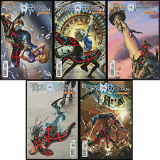 Bionic Man vs Bionic Woman Comic set 1-2-3-4-5 Lot versus Six Million Dollar NEW