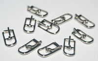 """10 EXTRA EXTRA TINY  NICKEL  PLATED   1/4"""" ROLLER  BUCKLES"""