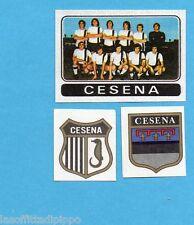 FIGURINA PANINI 1972/73-n.392- CESENA - SQUADRA+SCUDETTO+STEMMA-Rec