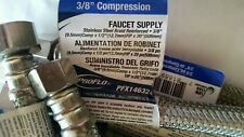 """Lot of 22 - Stainless Braided Faucet Supply Line 3/8"""" Compression X 1/2"""" X 20"""""""